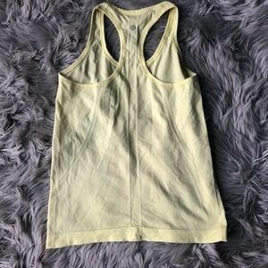 Yellow lululemon tank top